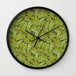 Redwood Leaves Spring Growth Wall Clock