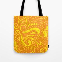 Mellow Yellow Parrot Tote Bag