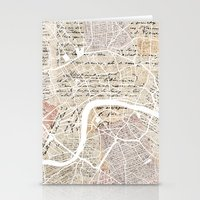 london map Stationery Cards featuring London map by Mapsland