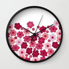 cherry blossom pop white Wall Clock