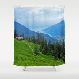 Above Interlaken Shower Curtain