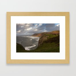 Rhossili Bay Gower Framed Art Print