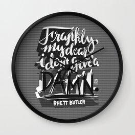 Rhett Butler Quote Wall Clock