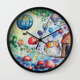 Owls world Wall Clock
