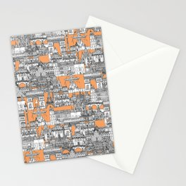 Paris toile cantaloupe Stationery Cards