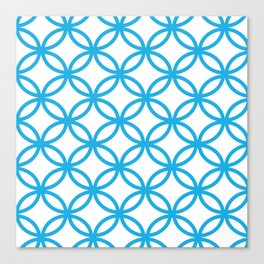Interlocking Blue Canvas Print