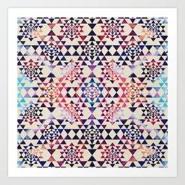 Sri Yantra  / Sri Chakra Pattern - Paint texture Art Print