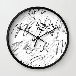 love letter to monster Wall Clock