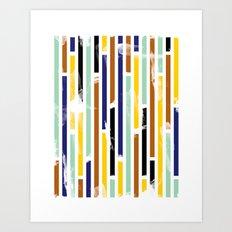 Stripey Art Print