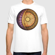 Sun and Moon MEDIUM White Mens Fitted Tee