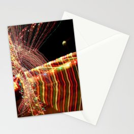 Abstract Xmas Lights Sculpting Stationery Cards
