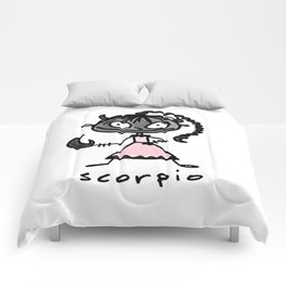 cuteness sprinkled with a dash of scary, because...well, scorpio Comforters