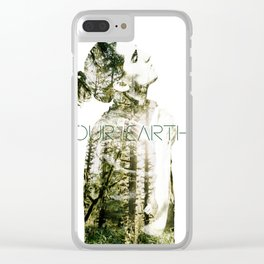 OUR EARTH Clear iPhone Case