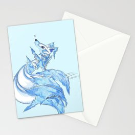Ice Kitsune Stationery Cards