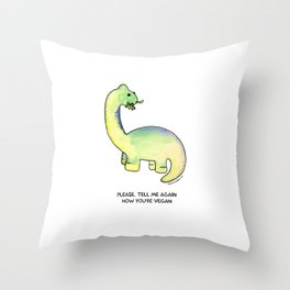 Brackston the Brachiosaurus Throw Pillow