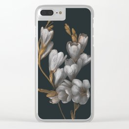 Night Flowers Clear iPhone Case