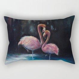 Flamingos in Love Rectangular Pillow