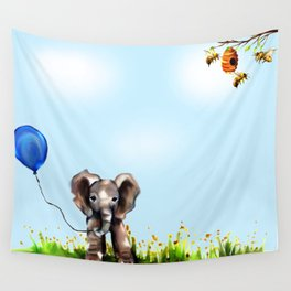 Balloon, Bee and Me Wall Tapestry