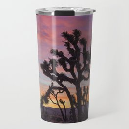 Colorful Sunset in Joshua Tree National Park Travel Mug