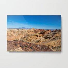 Barren Desert Metal Print