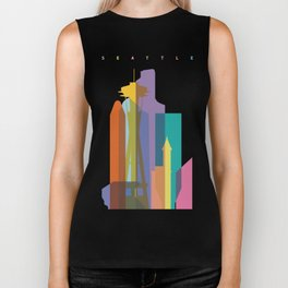 Shapes of Seattle accurate to scale Biker Tank