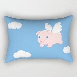 Flying Pig Rectangular Pillow