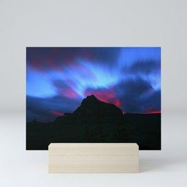 Sunrise at Logan Pass, Glacier National Park, Mini Art Print