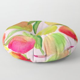 Mango Watercolor Painting Floor Pillow