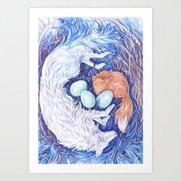 Wolf and Fox Art Print