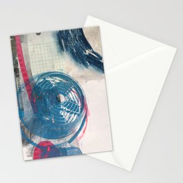 Looking Outward, mixed media print Stationery Cards