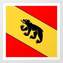 Bern Bear - Swiss City and Canton Crest Art Print