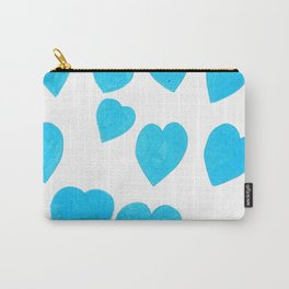 Many Blue Hearts Carry-All Pouch