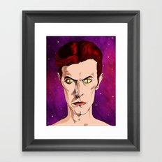The Man Who Fell  Framed Art Print