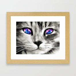 Galaxy Cat Framed Art Print
