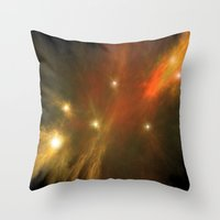 constellation Throw Pillows featuring Constellation by GothicToggs