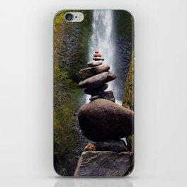 Stone Carin, Oneonta Falls, Oneonta Gorge, Oregon iPhone Skin