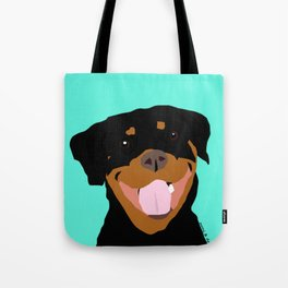 Rottweiler graphic on Mint Tote Bag