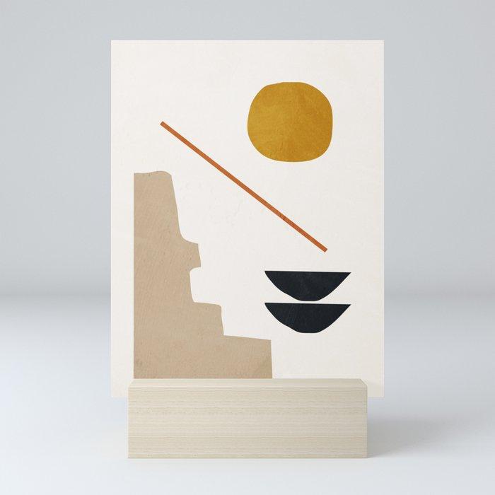 abstract minimal 6 Mini Art Print