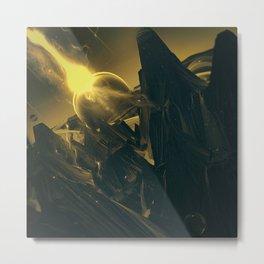 BLACK DX GOKUWAVE M816 Metal Print