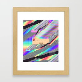 Error Tab Vaporwave Framed Art Print