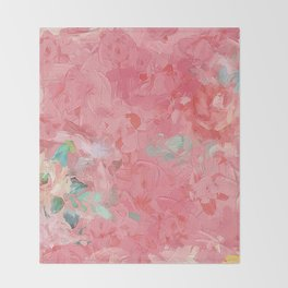 Painted Roses Throw Blanket