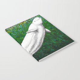 Beautiful beluga whale in the ocean Notebook