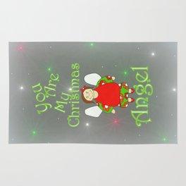 You Are My Christmas Angel Rug