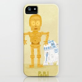 C3PO and R2D2 iPhone Case