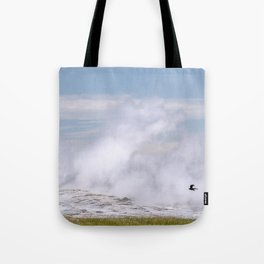 Old Faithful Fly By Tote Bag