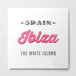 Ibiza Vintage Metal Print