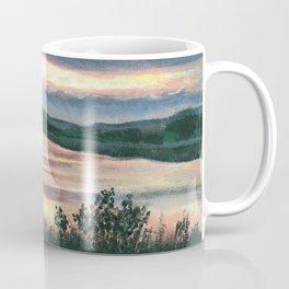 Summer Sunset at Baker Wetlands Painting Coffee Mug
