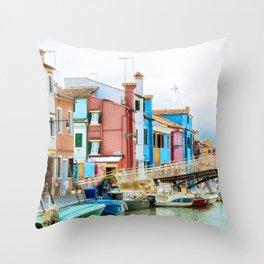 Corte Novello, Burano, Italy Throw Pillow