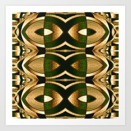 Stained Glass Collection II Camouflaged Art Print