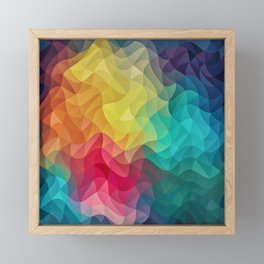 Abstract Color Wave Flash Framed Mini Art Print